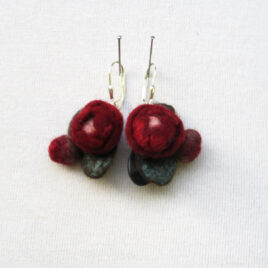 Little roses earrings