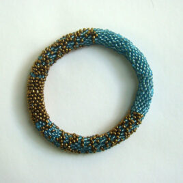 Glass beads bangle